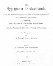 Trüffeln in Deutschland - wie es vor 130 Jahren aussah